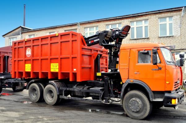 Вывоз крупногабаритного мусора автомобилем КАМАЗ